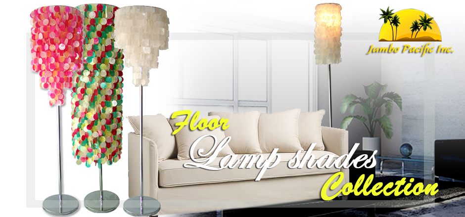 Capiz Floor Light Lamps