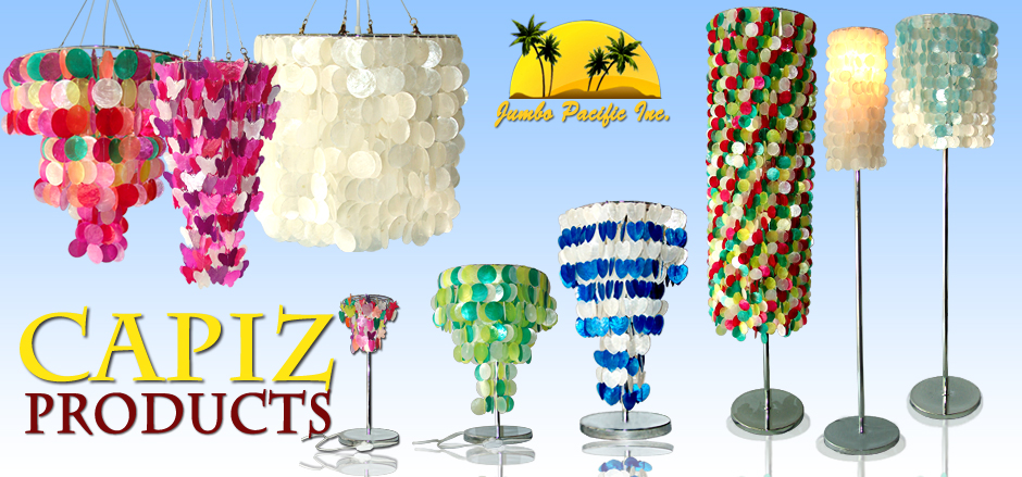 Capiz Raw shell of capiz lightings that suits your room as decrations in night.